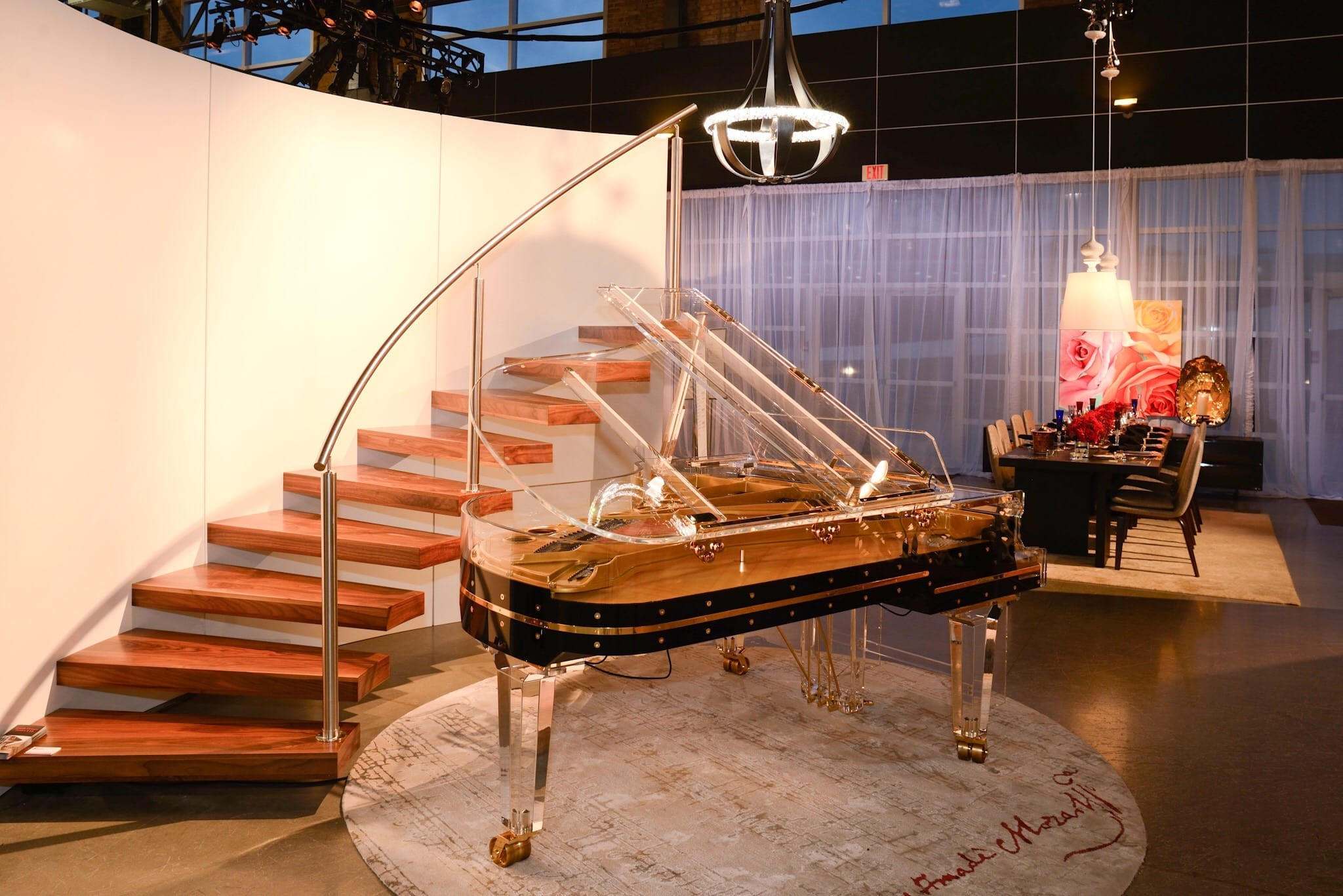 Schimmel Glas Grand Piano In Home