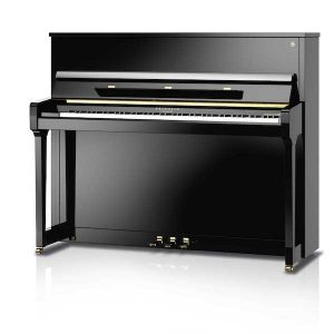 Upright gloss black Schimmel Piano