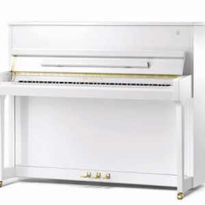 White upright Schimmel piano