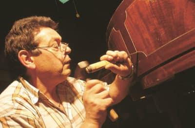 Schimmel Piano Craftsman Doing Wood Inlaying