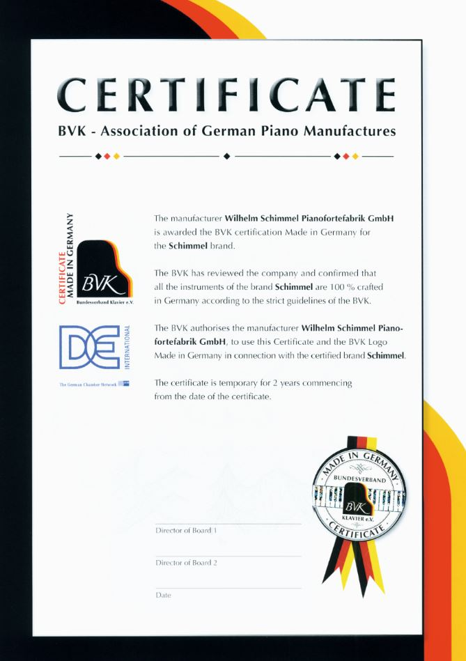 Made in Germany Certificate