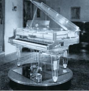 Schimmel's First Transparent Piano 1951