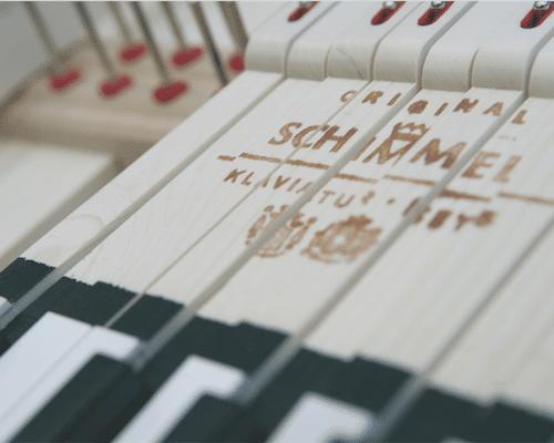 Schimmel Piano Keys Up Close
